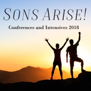 SONS ARISE! Conferences and Intensives. Link to Eventbrite event organiser page.